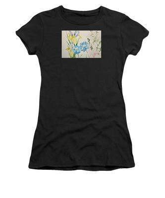 Women's T-Shirt featuring the painting A Variety-posthumously Presented Paintings Of Sachi Spohn  by Cliff Spohn