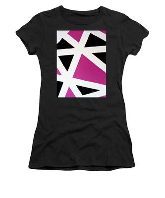 Women's T-Shirt featuring the painting Abstract M1015bp by Mas Art Studio