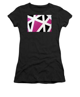 Women's T-Shirt featuring the painting Abstract M1015l by Mas Art Studio