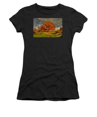 Autumn Picnic On The Hill Women's T-Shirt