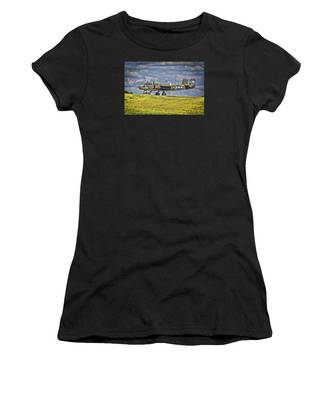 B-25 Landing Akron/canton Ohio Women's T-Shirt