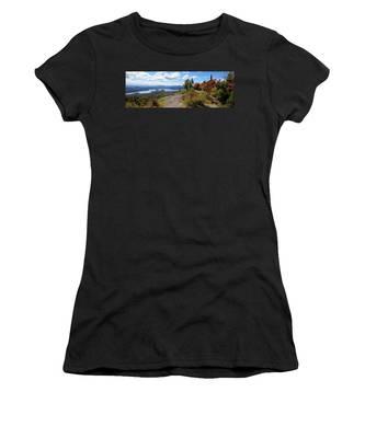 Bald Mountain Autumn Panorama Women's T-Shirt