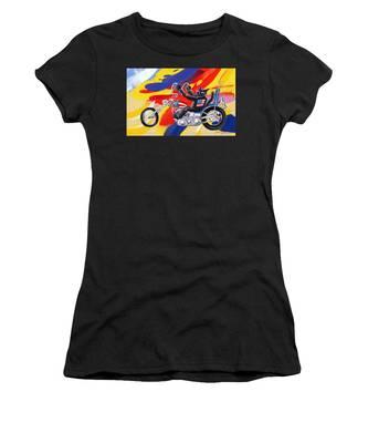 Biker Cat Women's T-Shirt