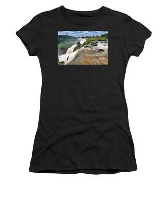 Women's T-Shirt featuring the photograph Brazil,iguazu Falls, by Juergen Held