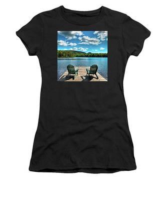 Calm In The Adirondacks Women's T-Shirt