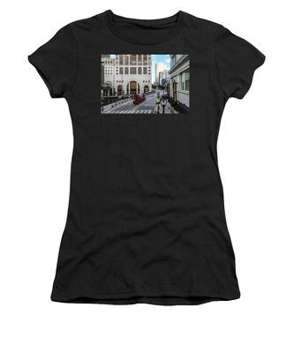 Cement Truck In The Itty-bitty-city Women's T-Shirt