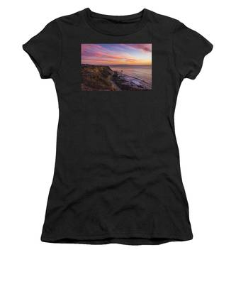 Colorful Sunset At Golden Cove Women's T-Shirt
