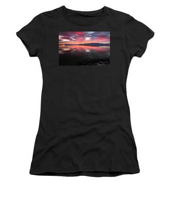 Colorful Utah Lake Sunset Women's T-Shirt