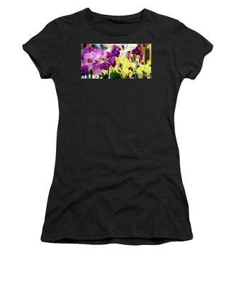 Decorative Orchids Still Life B82418 Women's T-Shirt by Mas Art Studio