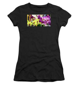 Decorative Orchids Still Life C82418 Women's T-Shirt by Mas Art Studio