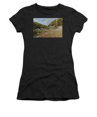 Downstream From Cumberland Falls Women's T-Shirt