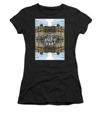 Eye Heart Art Louvre Silver Paris Da Vinci Gears Women's T-Shirt