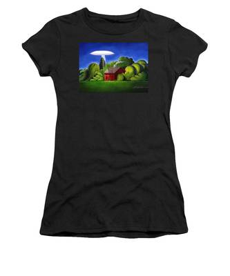 Feline Ufo Abduction Women's T-Shirt