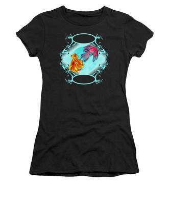Women's T-Shirt featuring the photograph Fish Bowl Fantasy by Robert G Kernodle