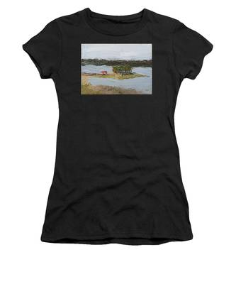 Women's T-Shirt featuring the painting Florida Lake II by Break The Silhouette