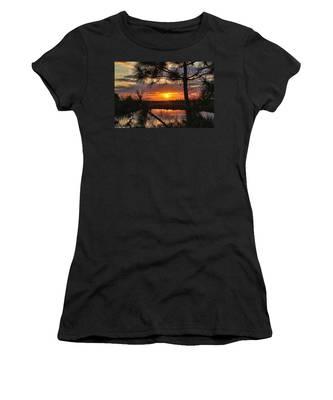 Florida Pine Sunset Women's T-Shirt