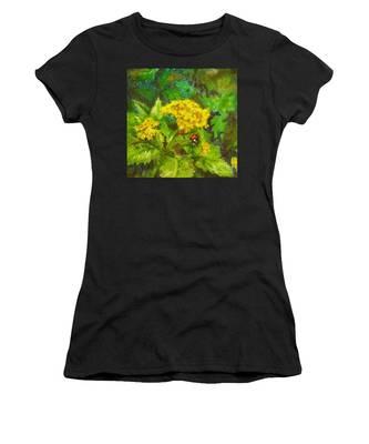 Golden Summer Blooms Women's T-Shirt