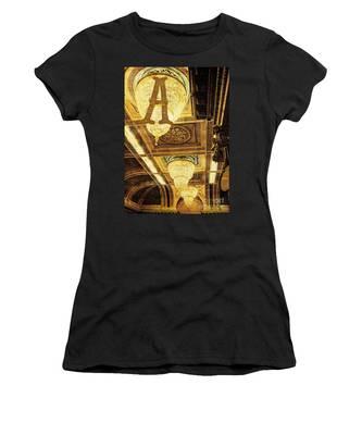Grungy Melbourne Australia Alphabet Series Letter A Assembly Cha Women's T-Shirt