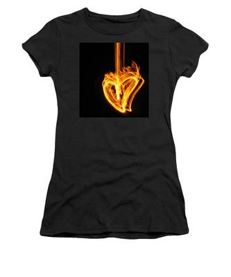 Hearts Aflame -falling In Love Women's T-Shirt