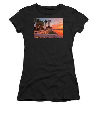 Historic Bridge Street Pier Sunrise Women's T-Shirt