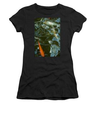 Women's T-Shirt featuring the photograph Koi II by Break The Silhouette