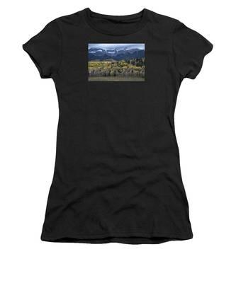 Last Light On Autumn Aspens Women's T-Shirt
