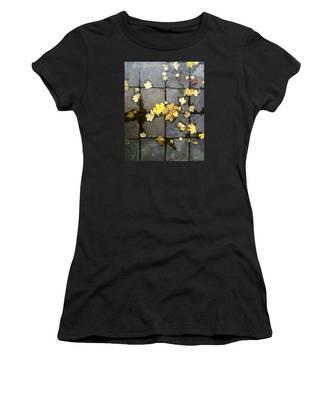 Leaves On Slate Women's T-Shirt