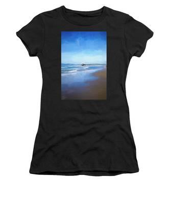Manhattan Pier Blue Art Women's T-Shirt