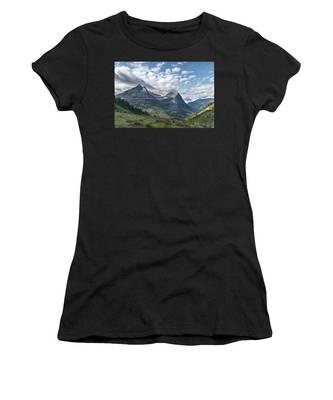 Mt. Oberlin From Logan Pass Women's T-Shirt by Jemmy Archer