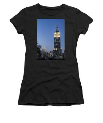 Women's T-Shirt featuring the photograph New York Empire State Building  by Juergen Held