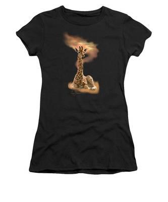 Newborn Giraffe Women's T-Shirt