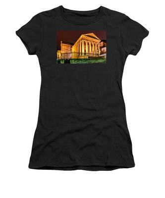 Night At The Roman Temple Women's T-Shirt