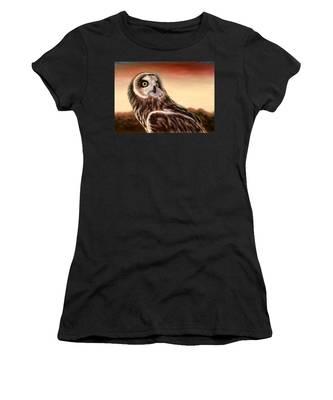 Owl At Sunset Women's T-Shirt