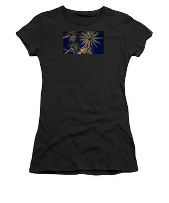 Palm Trees Wrapped In Lights Women's T-Shirt