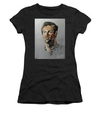 Pastel Portrait Of Handsome Guy Women's T-Shirt