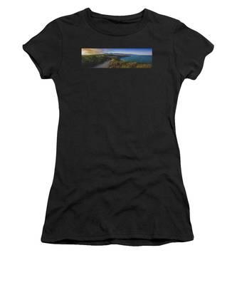 Point Dume Sunset Panorama Women's T-Shirt