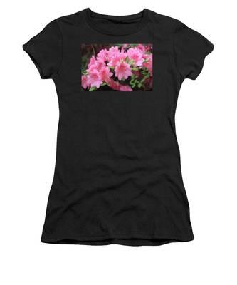 Pretty Pink Azalea Blossoms Women's T-Shirt