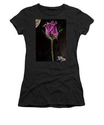 Purple Under The Moon's Glow Women's T-Shirt