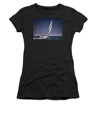 Racing To Nantucket Women's T-Shirt