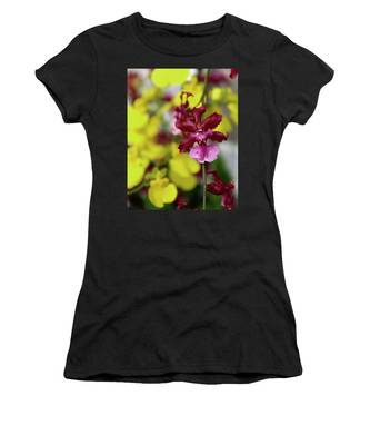 Maroon And Yellow Orchid Women's T-Shirt