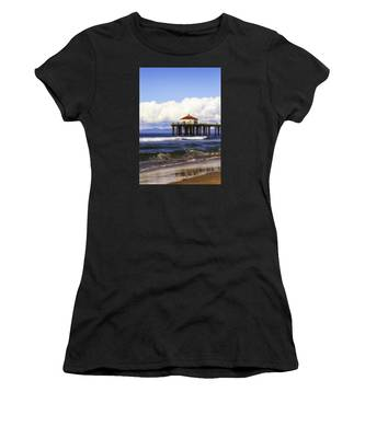 Reflections On The Pier Women's T-Shirt