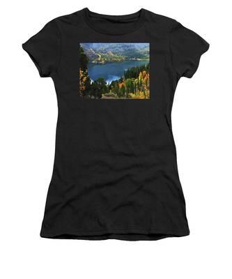Rock Creek Lake In Fall Women's T-Shirt