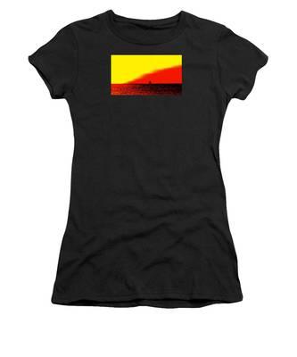 Sailboat Horizon Poster Women's T-Shirt