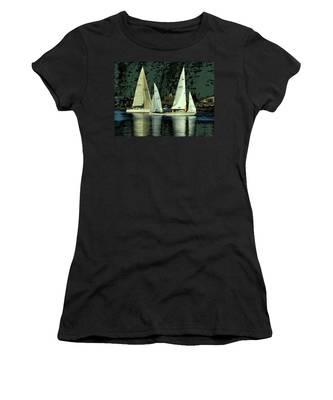 Sailing The Harbor Women's T-Shirt