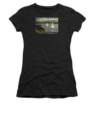 Sailing At Lake Morey Vermont Women's T-Shirt