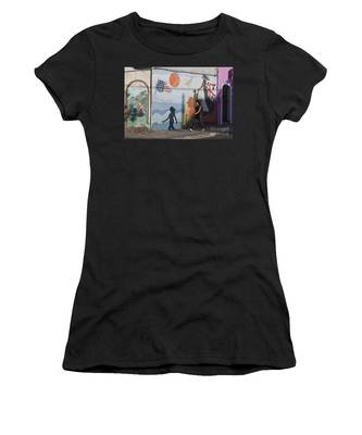 Women's T-Shirt featuring the photograph Sardinia Wall Painting  by Juergen Held
