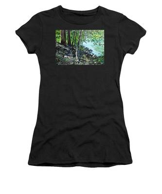 Shadows On The Bank Women's T-Shirt