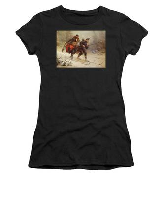 Skiing Birchlegs Crossing The Mountain With The Royal Child Women's T-Shirt