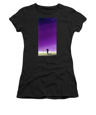 Standing Alone Waiting For The Bowling Balls To Fall When Night Comes Women's T-Shirt