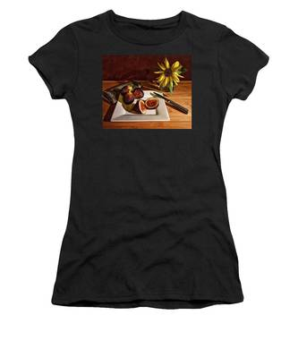 Still Life With Flower And Figs Women's T-Shirt
